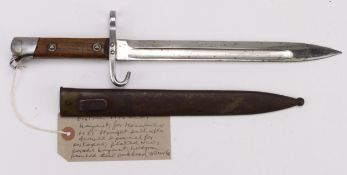 Austrian Mannlicher M95 bayonet, NCO issue parade bayonet with swivel at pommel for portapee.