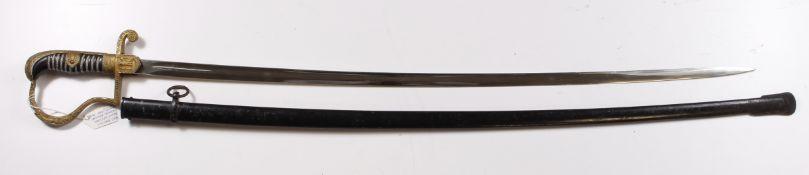 "German Nazi ""Derflinger Pattern"" Infantry Officers Sword by premier German maker Karl Eichorn."