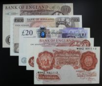 Bank of England (5), Bailey 20 Pounds REPLACEMENT note, serial LL36 879021, Page 10 Pounds serial