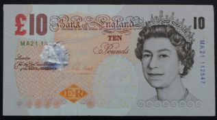 ERROR Cleland 10 Pounds issued 2015, missing the last 4 digits from top left serial number, serial