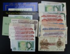 Bank of England & Treasury (39), Treasury (1) Bradbury 1 Pound (T16) with nice number B/90 003366,