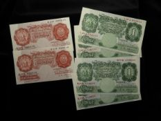 Bank of England (14), an interesting collection of consecutively numbered runs and pairs in high