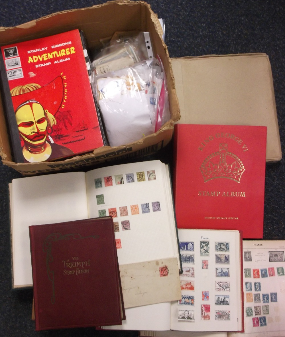 Lot 26 - Stamps, large accumulation of GB & World stamps (1,000's), mint & used in stamp albums, stockbooks &