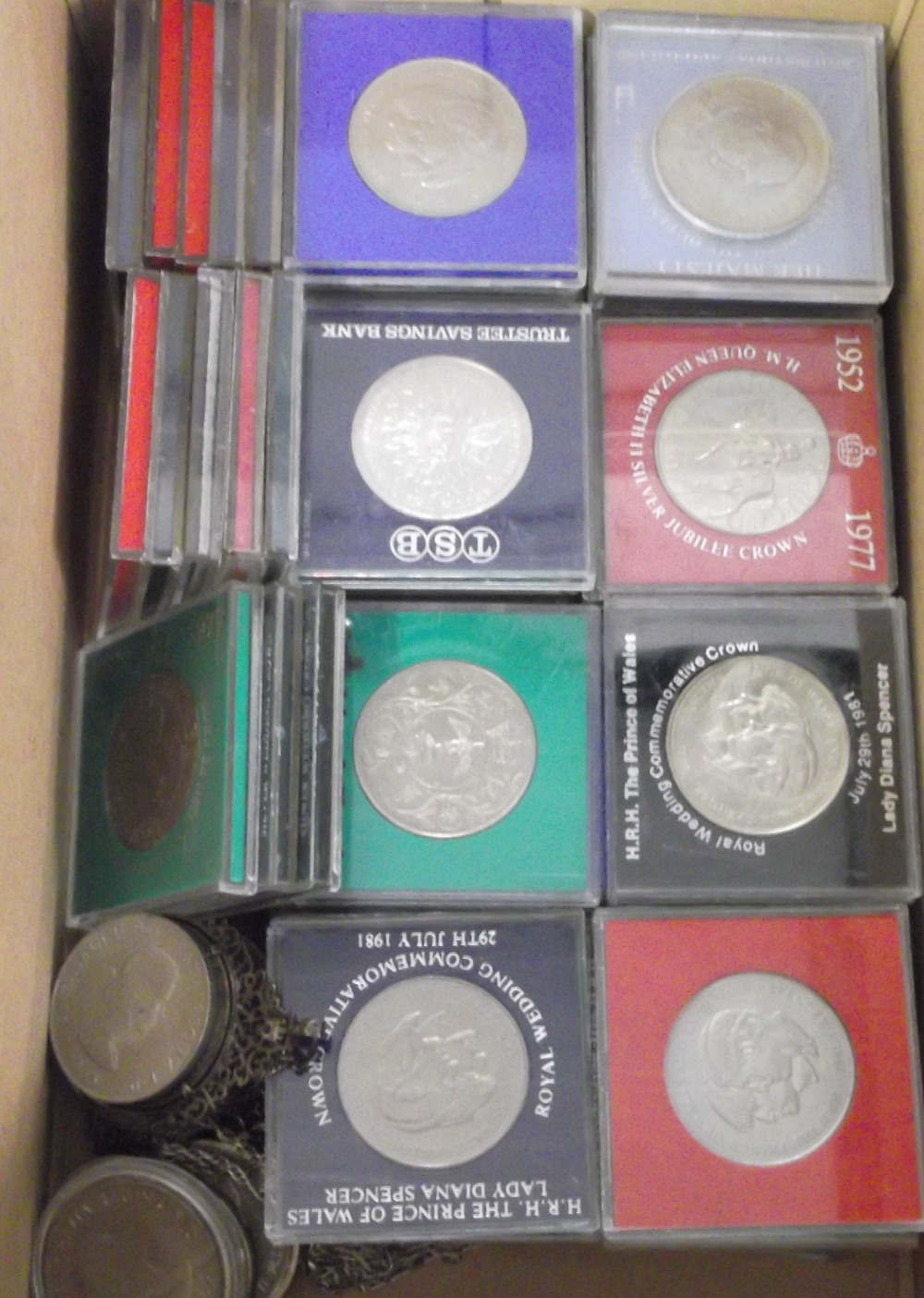 Lot 18 - Coins, GB, a collection of approx. 75 coins mostly GB commemorative crowns, several in original