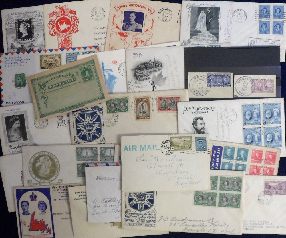 Lot 21 - Postal history, Canada, a collection of 27 postal covers, several illustrated inc. FDC's, some