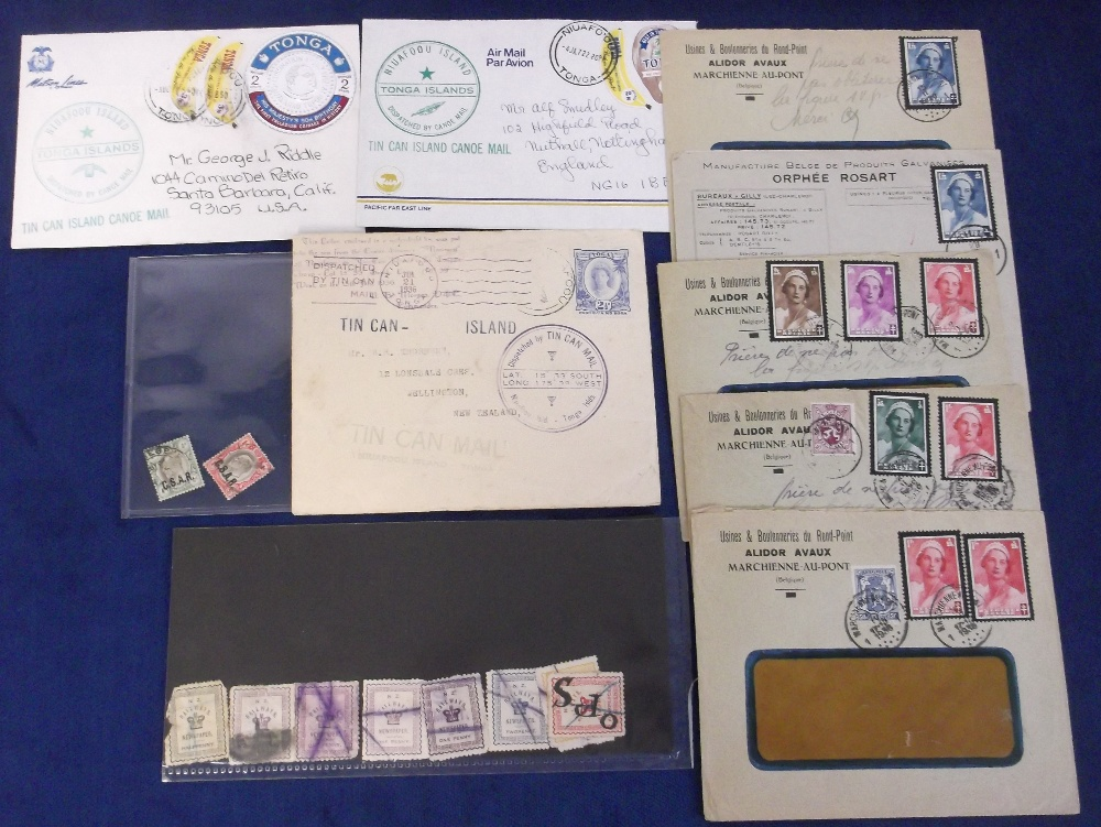 Lot 33 - Postal History, selection inc. Tonga Tin Can Mail cover dated 1936, plus two covers with stamps &