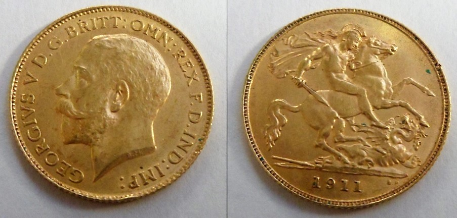Lot 1 - Coin, GB, George V half sovereign 1911 VF (1)
