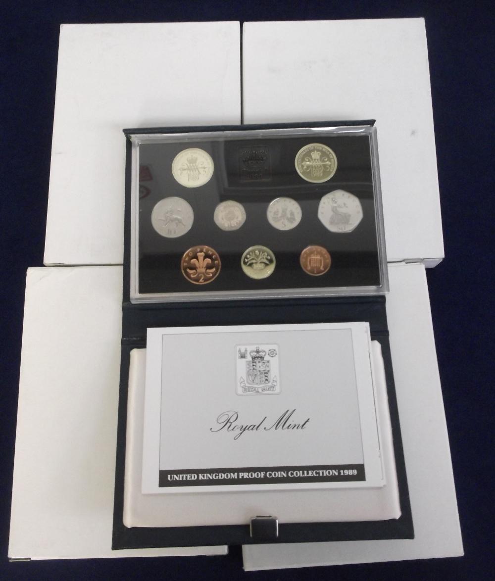 Lot 13 - Coins, Royal Mint Proof Coin Sets, 4 sets 1989 x 2, 1990 x 2 (vg) (4)