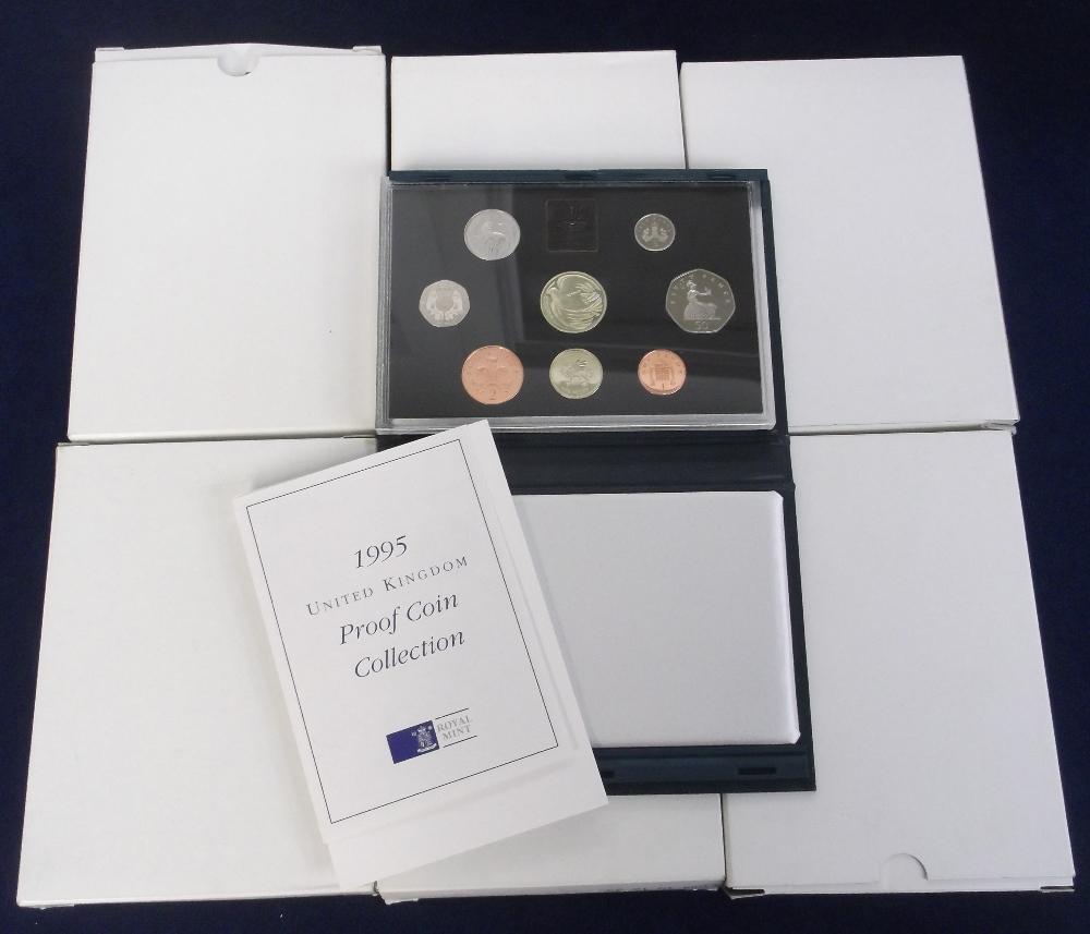 Lot 15 - Coins, Royal Mint Proof Coin Sets, 1996 x 2, 1995 x 2, 1996 x 2 (vg) (6)