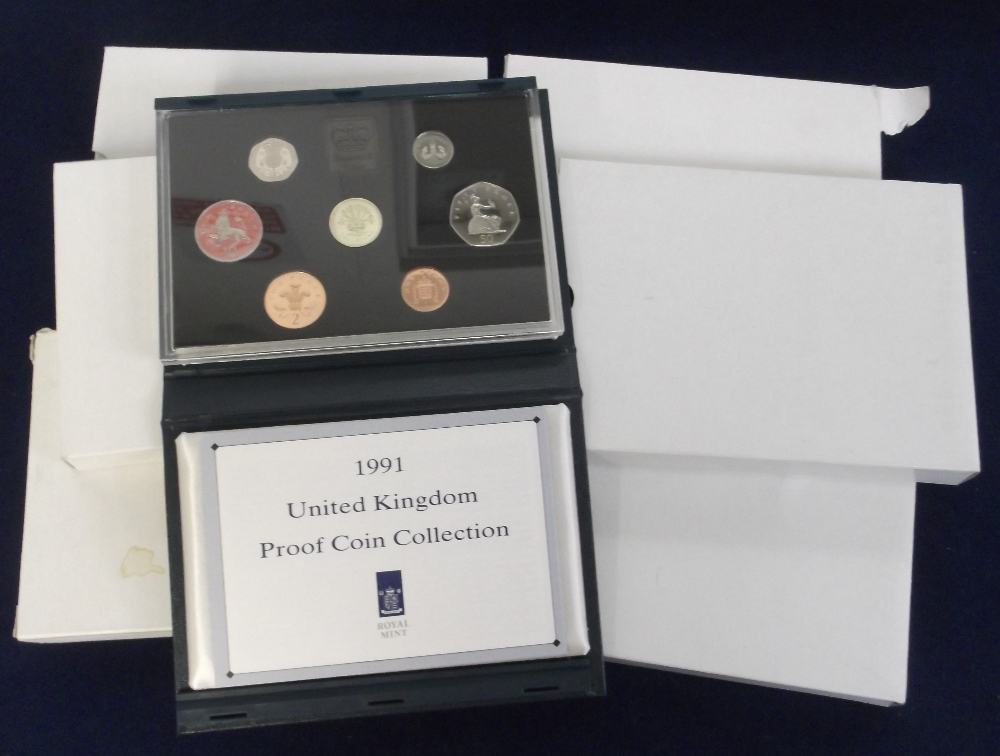 Lot 14 - Coins, Royal Mint Proof Coin Sets, 1991 x 2, 1992 x 2, 1993 x 2 (vg) (6)