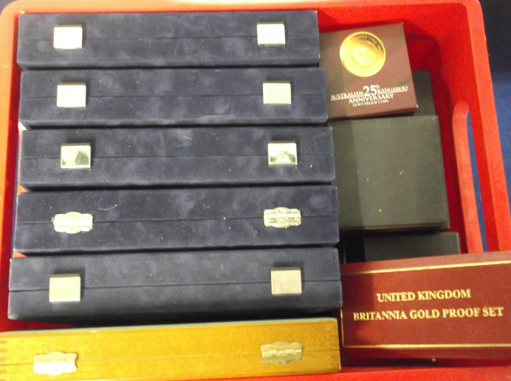 Lot 16 - Coin accessories, a large quantity of coin cases many still with empty coin capsules inside for