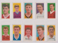 Trade cards, Barratt's, Famous Footballers A11 (set, 50 cards, plus variation card for no29) (vg) (