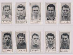 Trade cards, Barratt's, Famous Footballers A7 (set, 60 cards) (gd/vg)