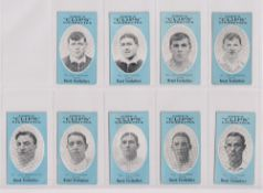 Cigarette cards, Cope's, Noted Footballers (Clips, 500 subjects), 18 cards, Leeds (9), nos 166-