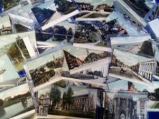 Postcards, an FGO Stuart published collection of approx. 120 cards, mostly Hampshire street scenes &
