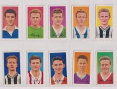 Trade cards, Barratt's, Famous Footballers A8 (set, 50 cards) (gd/vg)