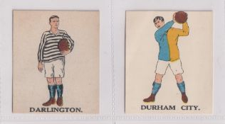 Trade cards, Battock's, Football Cards, two type cards, Darlington (vg) & Durham City (gd) (2)