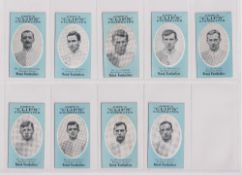 Cigarette cards, Cope's, Noted Footballers (Clips, 500 subjects), 18 cards, Blackburn Rovers (9),