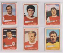 Trade cards, A&BC Gum, Footballers (Yellow, 1-54) (set, 54 cards) (a few fair, checklist creased,