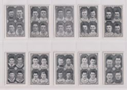 Trade cards, Barratt's, Football Teams 1st Division (set, 66 cards) (6 fair, rest gd) (66)