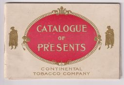 Tobacco advertising, USA, Continental Tobacco Co, St Louis, Missouri, 60 page catalogue of gifts