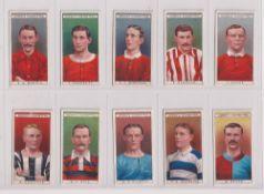 Cigarette cards, Ogden's Famous Footballers (set, 50 cards) (1 fair, rest gd/vg)