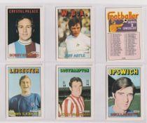 Trade cards, A&BC Gum, Footballers (Orange/Red, 110-219) (set, 110 cards) (vg/ex)