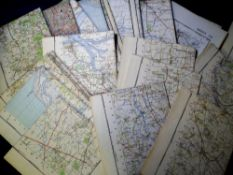 Ordnance Survey Maps, 30 maps dating from the 1950s and 60s stamped 'Official Use Only' (gd) (30)