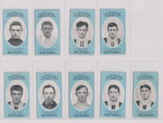 Cigarette cards, Cope's, Noted Footballers (Clips, 500 subjects), Grimsby Town, 9 cards, nos 391-399