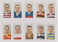 Cigarette cards, Ogden's, two sets, Football Club Captains (50 cards, vg) & Football Caricatures (50