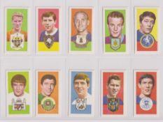 Trade cards, Barratt's, Famous Footballers, A15 (set, 50 cards) (vg/ex)