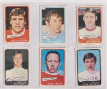 Trade cards, A&BC Gum, Footballers (Yellow, 55-101) (set, 47 cards, plus 3 duplicates for no 75) (