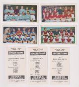 Trade cards, Soccer Bubble Gum, Soccer Teams No 1, Series A (set, 48 cards) (vg)