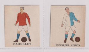 Trade cards, Battock's, Football Cards, two type cards, Barnsley (vg) & Stockport (gd) (2)
