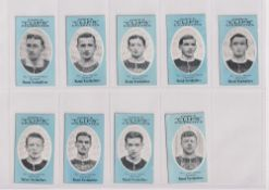 Cigarette cards, Cope's, Noted Footballers (Clips, 500 subjects), 17 cards, Bradford (9), nos 310-