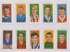 Trade cards, Barratt's, Famous Footballers A10 (set, 50 cards) (vg)