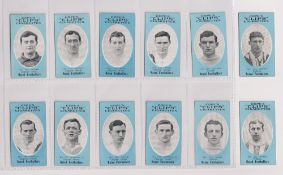 Cigarette cards, Cope's, Noted Footballers (Clips, 500 subjects), 12 cards, Clapton Orient (8),