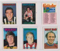Trade cards, A&BC Gum, Footballers (Orange/Red, 1-109) (set, 109 cards) (vg/ex, checklist unmarked)