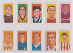 Trade cards, Barratt's, Famous Footballers A12 (set, 50 cards) (gd/vg)