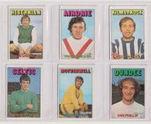 Trade cards, A&BC Gum, Footballers (Rub Coin, Scottish, 1-89) (set, 89 cards) (vg/ex, checklist