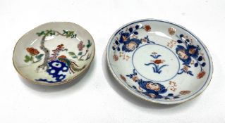 Two Chinese saucer dishes, the largest diameter 11cm (largest AF).