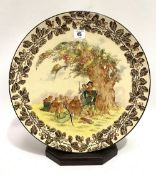 A Royal Doulton 'Under the Greenwood Tree' pattern charger, No. D5623, diameter 38.5cm.