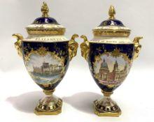 A modern Coalport Royal Commemorative Silver Jubilee lidded, twin handled vase edition no. 160/
