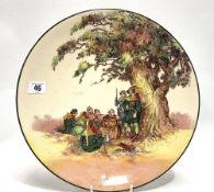 A Royal Doulton 'Under the Greenwood Tree' pattern dish, No. D6341, diameter 34cm.