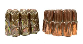 Two 19th century copper jelly moulds.