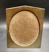 George V Art Deco silver mounted oak picture frame of trapeze form, maker S.B. & S.LD, Birmingham