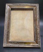 George V silver rectangular photograph frame, with embossed band decoration, Birmingham 1916, 17.5cm