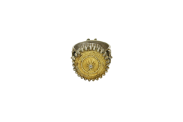 A circa 1840 silver Greek Macedonian ring