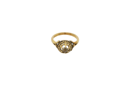 An early 20th century Lady's Constantinople gold ring. Approx: 4 gr.