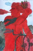 Alekos Fassianos (Greek, born 1935) (AR), The Cyclist's Rendezvous, 74 x 49 cm